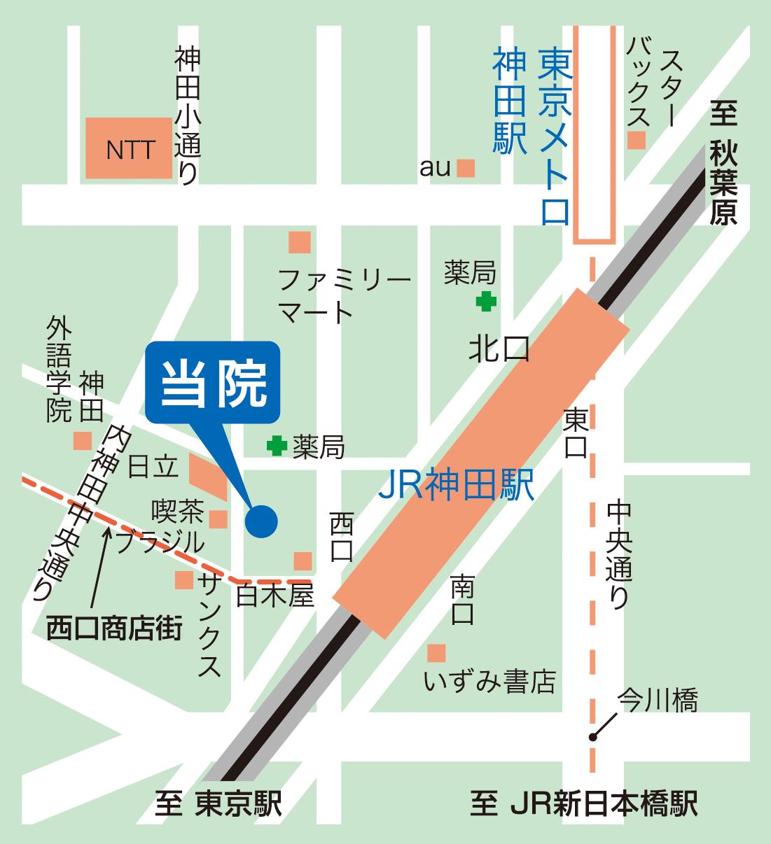 当院付近の地図です